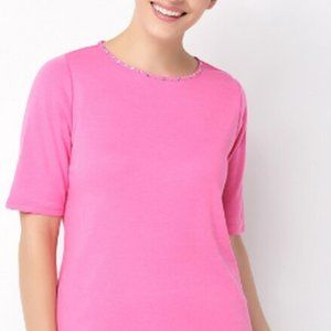 Quacker Factory Elbow Sleeve Knit Top